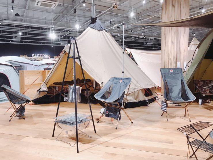 テントの展示